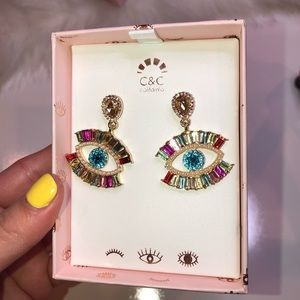 Evil Eye sparkling colorful earrings